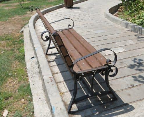 نیمکت پارکی - نمونه 1
