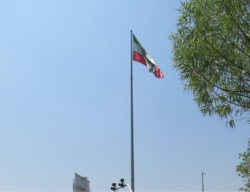 پایه پرچم مرتفع - نمونه 1