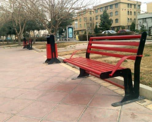 نیمکت پارکی در تجهیزات مبلمان شهری