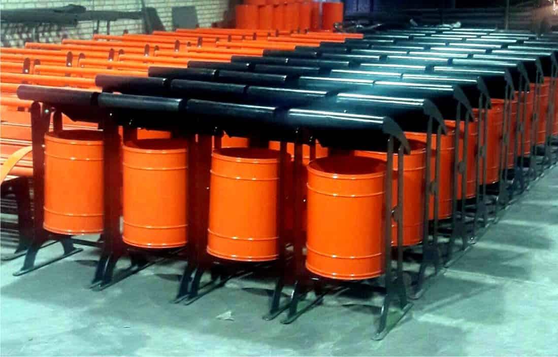 مخزن زباله فلزی CNC