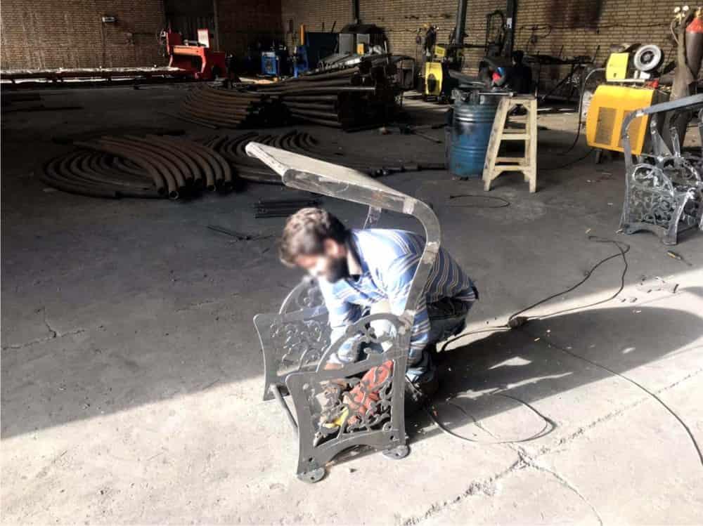 ساخت سطل زباله فلزی شهری